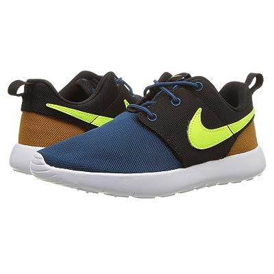 Nike Kids Roshe One (Little Kid) (Blue Force/Volt/Black/Desert Ochre) Boy