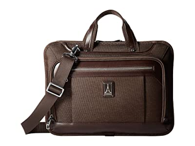 Travelpro Platinum(r) Elite Slim Business Brief (Rich Espresso) Briefcase Bags