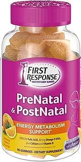 First Response Prenatal and Postnatal Multivitamin Gummy, 90 Count (Packaging May Vary)