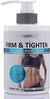 Collagen Body Cream Moisturizing, Tightening Cellulite Cream Improves Elasticity, Plumps Sagging Skin (15oz)