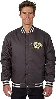 J.H. Design Nashville Predators NHL Jacket Poly-Twill Charcoal Embroidered Logo