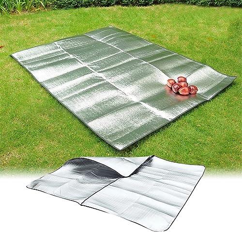 popular RiamxwR Folding Camping Blanket - Multi Person Aluminum popular Film Moisture-Proof Mat Double-Sided Picnic Mat Tent Moisture-Proof popular Waterproof Mat Sleeping Pad Camping Mat online