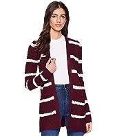 Lace-Up Long Sleeve Open Cardigan w/ Pocket
