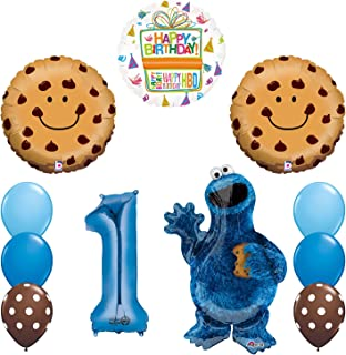 Mayflower Products NEW! Sesame Street Cookie Monsters 1st Birthday party supplies Balloon Decorations
