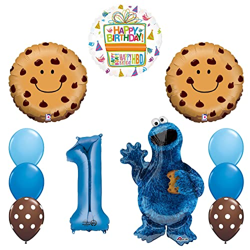 Sesame Street Cookie Monsters 1st Birthday Party Supplies Balloon Decorations