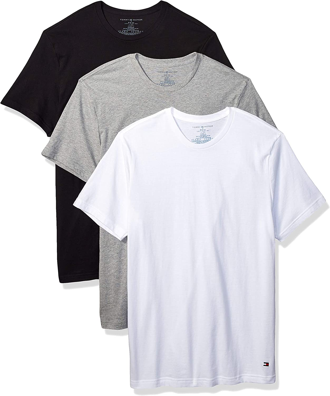 Tommy Hilfiger Mens Undershirts Multipack Cotton Classics Crew Neck T-Shirt