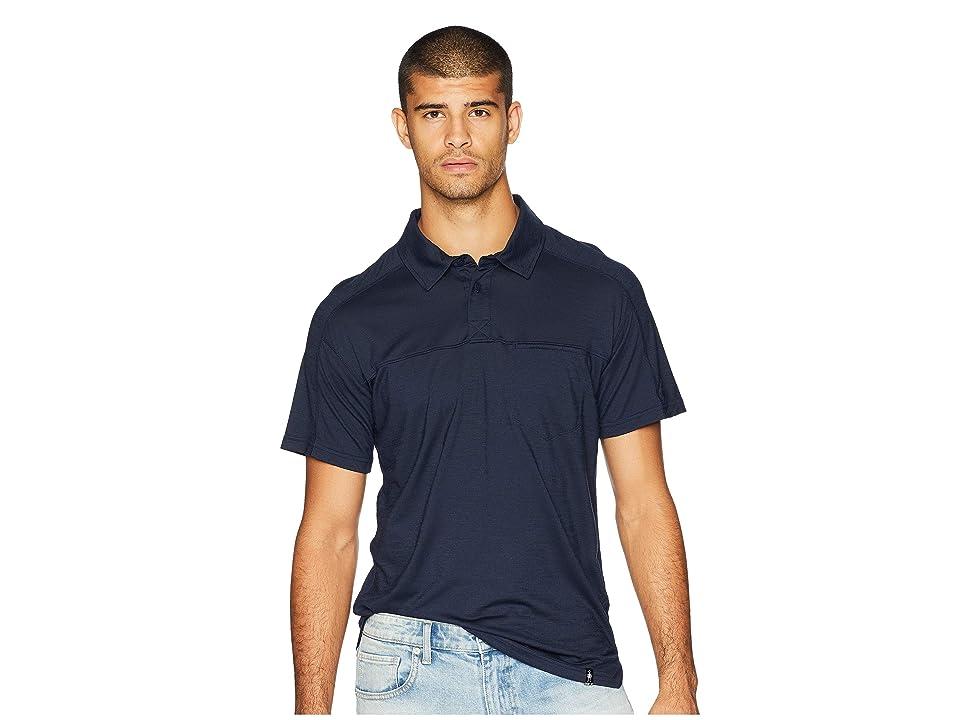 Smartwool Everyday Exploration Short Sleeve Polo (Deep Navy) Men