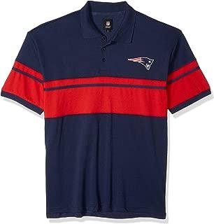 NFL Mens Football Team Logo Cotton Stripe Polo Shirt