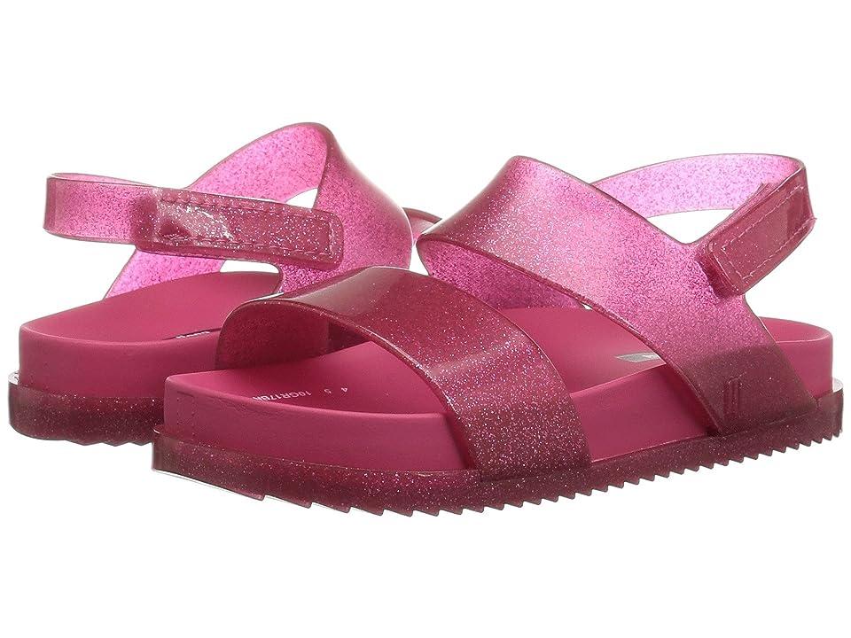 Mini Melissa Mini Cosmic Sandal (Toddler/Little Kid) (Pink Glitter) Girls Shoes