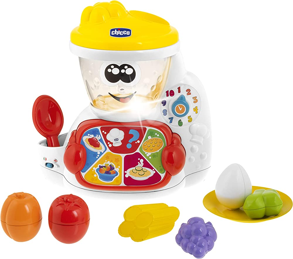 Chicco cooky il robot da cucina, gioco elettronico, bilingue, età 18 mesi - 4 anni 00010197000000