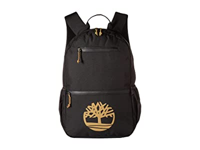 Timberland Tree Logo 28L Backpack (Black/Wheat Logo) Backpack Bags