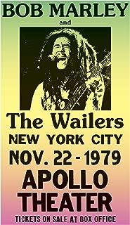 "Per Diem Printing Bob Marley & The Wailers - Apollo Theatre New York City - 13""x22"" Vintage Style Showprint Poster - Home Nostalgia Decor – Wall Art Print - Concert Bill"