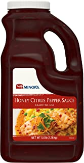 Minor's Honey Citrus Pepper Sauce, Barbeque Sauce for Grilling, Soy and Citrus Flavor, 5 lb Bottle