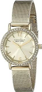 Caravelle New York Women's 44L157 Analog Display Analog Quartz Yellow Watch