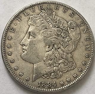 1884 P Silver Morgan Beautiful Wild West ERA Dollar VF Very Fine