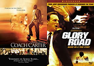 Everyone Scores In These Extraordinary True Basketball Stories DVD Combo: Glory Road & Coach Carter Double Feature inspirational Basketball film bundle