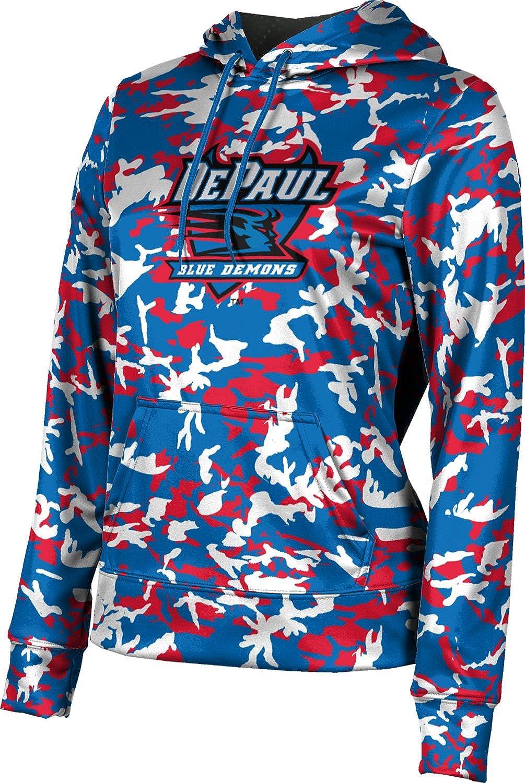 ProSphere DePaul University Girls' Pullover Hoodie, School Spirit Sweatshirt (Camo)