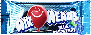 AirHeads Mini Bars for Halloween, Blue Raspberry, Individually Wrapped Candy Bulk Box, Non Melting, 8 Pound