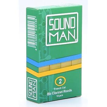 10 Soundman® Cañas de Lengüeta para Clarinete Boehm - Fuerza 2,0: Amazon.es: Instrumentos musicales