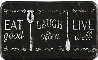 "J&V TEXTILES Chef Series 18""x30"" Antifatigue Kitchen Mats (Eat, Laugh, Live)"