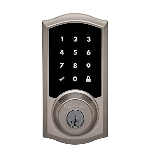 Kwikset Premis Touchscreen Smart Lock, Works with Apple HomeKit via Apple HomePod or Apple TV, in Satin Nickel