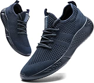 BUBUDENG Mens Trainers Running Shoes Gym Sport Fitness Sneakers