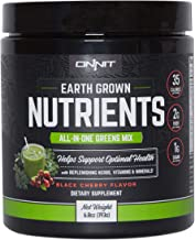 Onnit Earth Grown Nutrients: All-in-One Daily Greens and Replenishing Herbs (15 Servings) (Black Cherry)