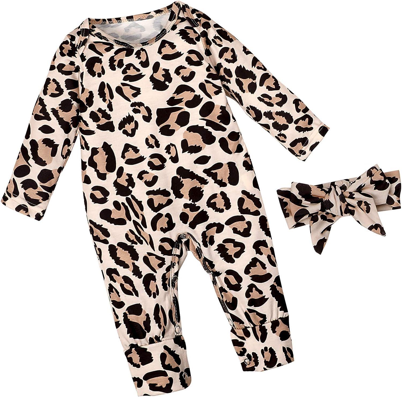 Newborn Baby Girl Clothes Floral Long Footless Jum Denver trust Mall Romper Sleeve