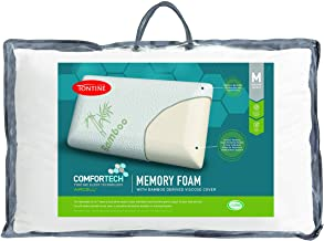 Tontine T2868 Comfortech Memory Foam Pillow with Bamboo Cover, Medium