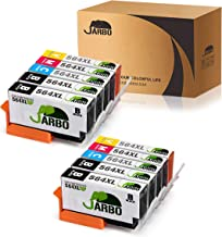 JARBO Compatible Ink Cartridge Replacement for HP 564XL High Yield, 4 color, 10 packs(4 Black, 2 Cyan, 2 Magenta, 2 Yellow), Used in Photosmart 5520 6520 5510 6510 Officejet 4620 Deskjet 3520 Printer
