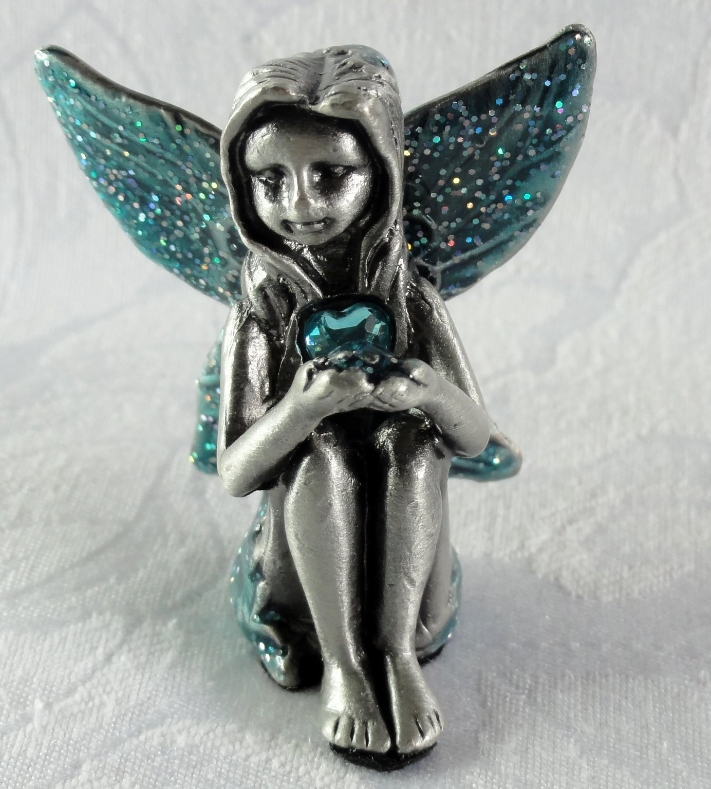 Pewter Birthstone Fairy Viceni Birthday Collection January