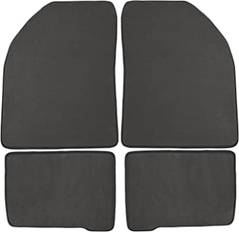 Nylon Carpet Black Coverking Custom Fit Front Floor Mats for Select Volvo S70 Models