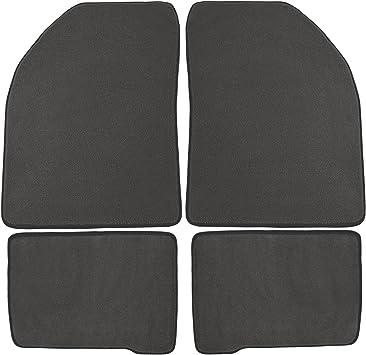 Nylon Carpet Coverking Custom Fit Front Floor Mats for Select Chrysler Daytona Models Black