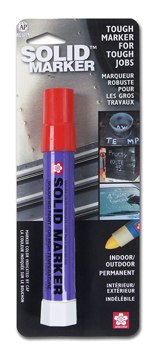 Sakura Solidified Paint Solid Marker, 14 to 392 Degrees F, Red