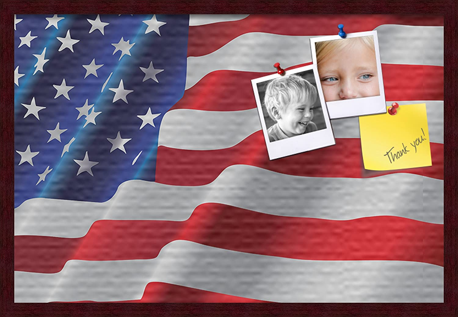 PinPix pin Cork Product Bulletin Great interest Board American Made from Waved Canvas