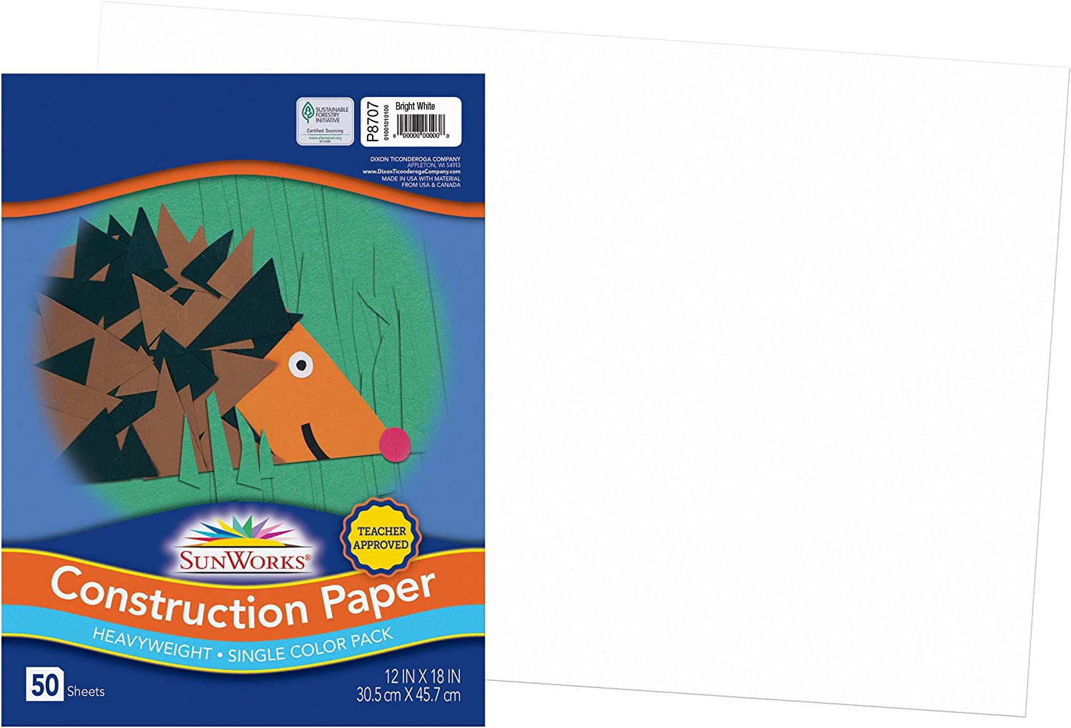 Today's only SunWorks Construction Paper Max 69% OFF Bright White x Sheets 50 18