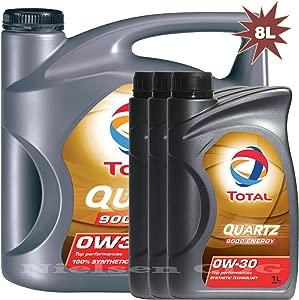 Total Quartz Energy 9000 0w30 Engine Oil 5L 3x1L  Litre