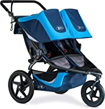 BOB Revolution Flex 3.0 Duallie Jogging Stroller - Up to 100 Pounds - UPF 50+ Canopy - Adjustable Handlebar - Easy Fold, Glacier Blue