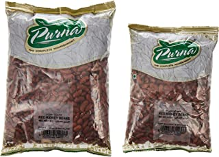 Purna Red Kidney Beans - 1 kg + 500 gm (Pack of 2)
