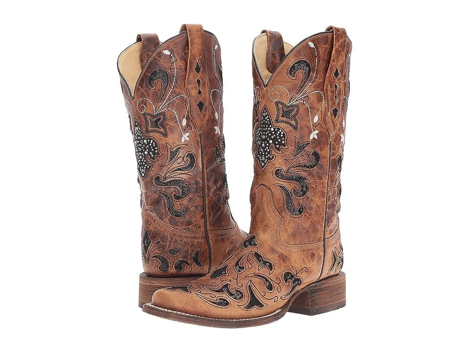 Corral Boots A2840 (Antique Saddle/Black) Women
