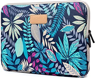 CoolBELL 13.3 Inch Laptop Sleeve Case with Colorful Leaves Pattern Ultrabook Sleeve MacBook Bag for Acer/Asus/Dell/iPad Pro/Lenovo/MacBook Pro/MacBook Air/Surface Pro 4/Women/Men/Teens,Blue