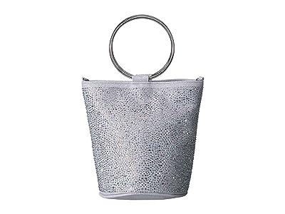 Jessica McClintock Jodi Ring Handle Bucket (Silver) Handbags