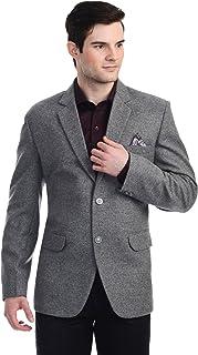 LUXURAZI The Dapper Textured Woolen Grey Blazer