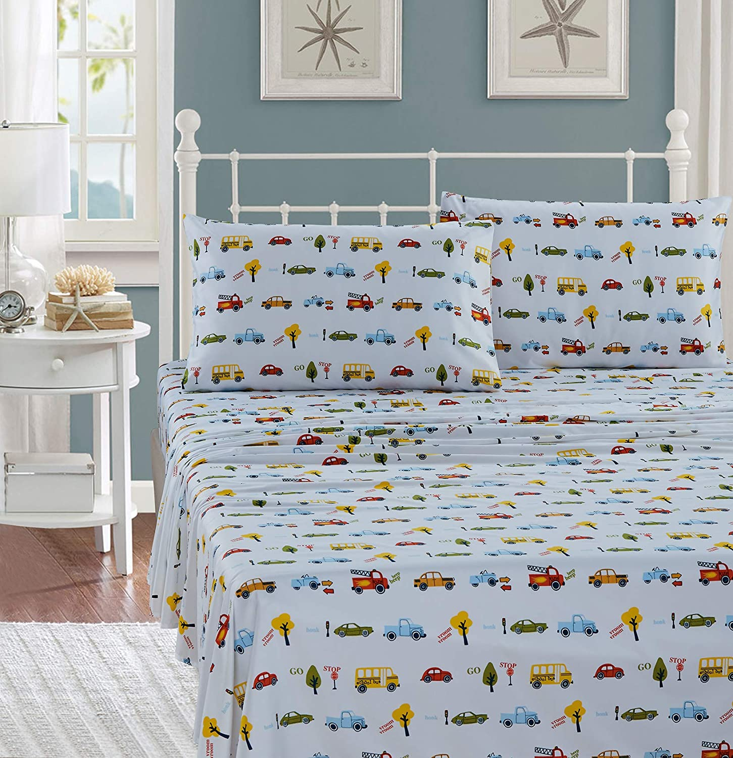 Luxury Home Collection Kids List price Bedding 3 Twin Shee Piece Size Raleigh Mall Print
