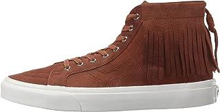 Vans Unisex Sk8-Hi Moc Suede Skate Shoes-Brown