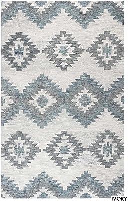 Amazon.com: nuLOOM Kellee alfombra hecha a mano, Lana, gris ...