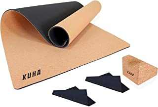 KUHA Professional Guitar Work Mat and Guitar Neck Rest for Repair and Maintenance of String Instruments – Comes with 2 Instrument Polish Cloths - Anti Slip Cork Material