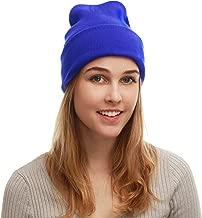 The Hat Depot Cuff Beanie Cap/Made in USA Knit Skull Long Beanie Plain Ski Hat