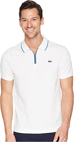 Lacoste Short Sleeve Maille Super Light w/ RT Graphic Collar