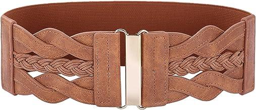 Women 50s Elastic Stretchy Retro Wide Waist Cinch Belt